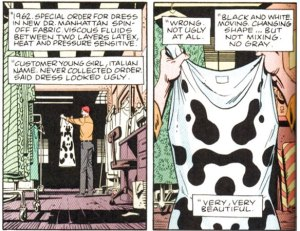 Origin of Rorschach's mask; art by Dave Gibbons