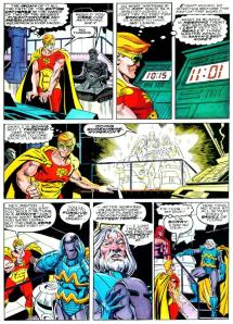 From Squadron Supreme: Death of a Universe, art by Paul Ryan and Al Williamson.  Source: Comic Book Resources.  Brian Cronin was struck by the same scene as myself.
