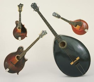 Quartet of Gibson mandolins. Source: Wikipedia.