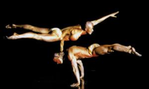 Strongmen Jarek and Darek of Cirque de la Symphonie