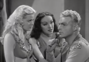 An amnesiac Flash Gordon tries to decide between Dale Arden and Princess Aura, the Betty and Veronica of outer space.