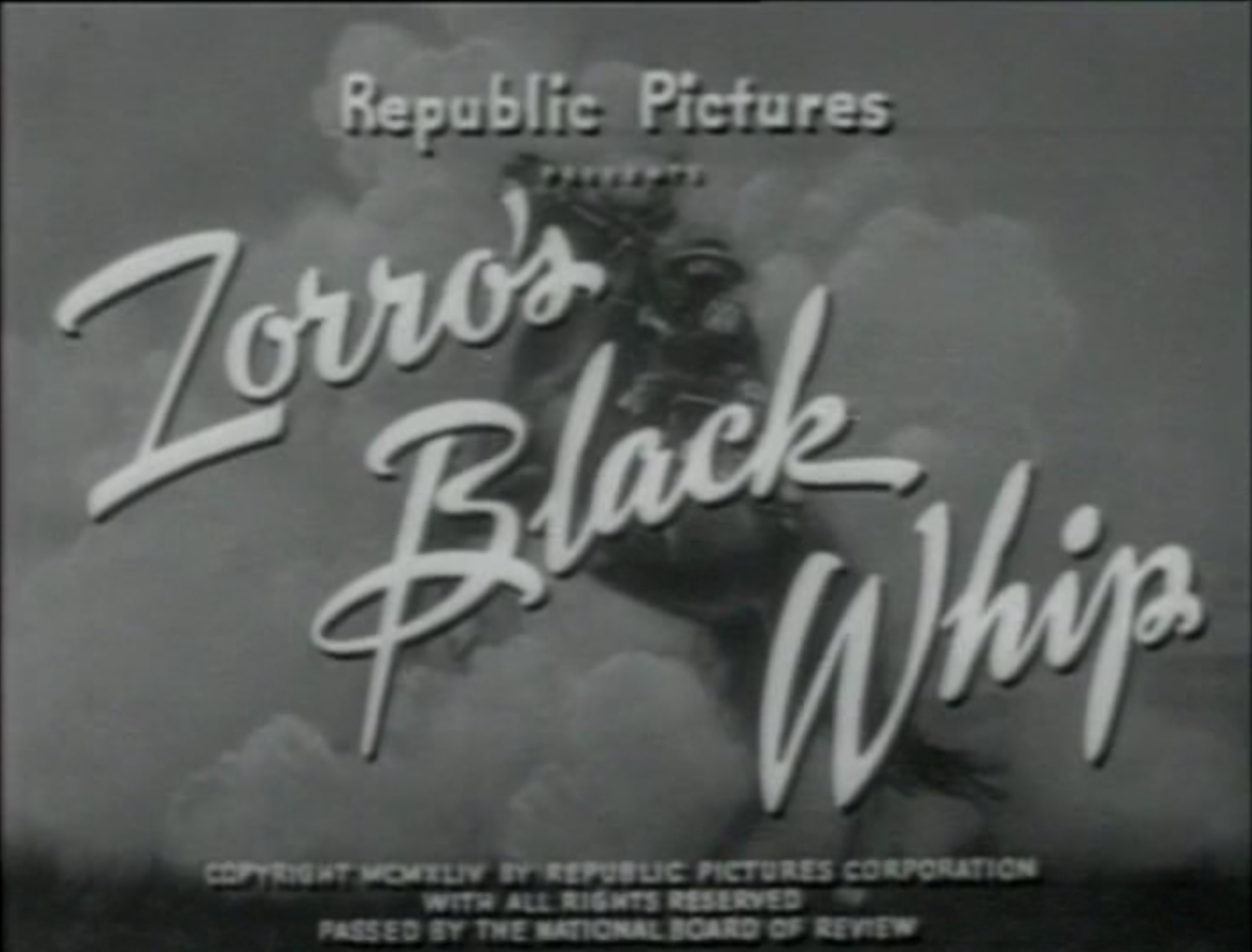 Zorros Black Whip Medleyana