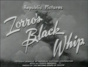 """AKA """"Zorro minus Zorro"""""""