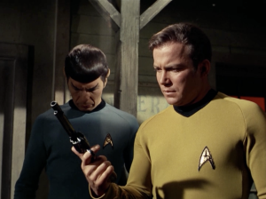"Show creator Gene Roddenberry pitched Star Trek as ""Wagon Train to the stars."" A few episodes, such as ""Spectre of the Gun,"" made it literal."