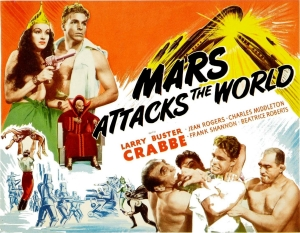 (Note that the photos on the poster are drawn from the 1936 Flash Gordon serial.)