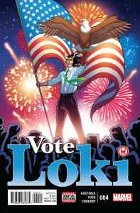 Vote Loki #4, cover art by Tradd Moore and Matthew Wilson